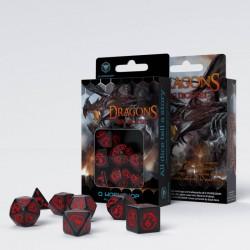 Dragons - Black & red Dice Set