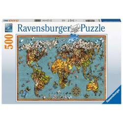 Puzzle Mundo de mariposas -...